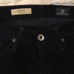 Navy blue AG corduroy pants